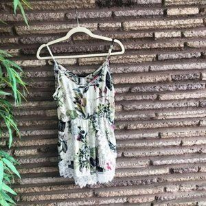 Zaful Lace Edged Romper Shorts Size M
